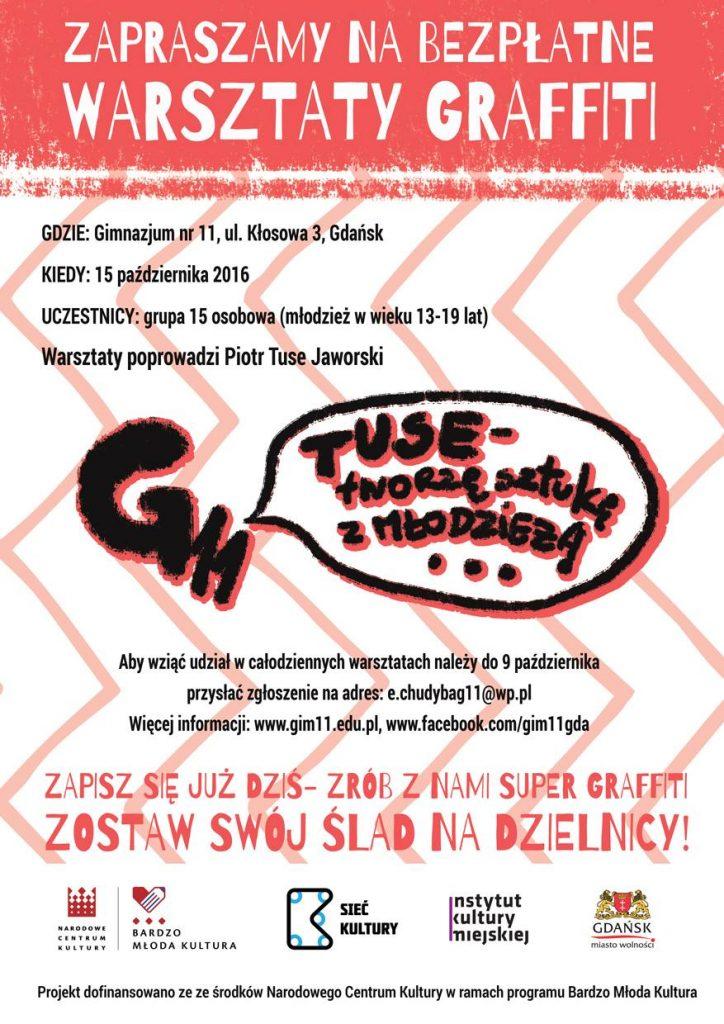 Warsztaty graffiti - plakat
